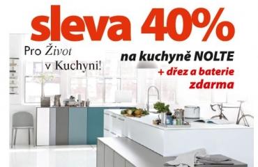 Sleva 40% na kuchyně NOLTE i NOBILIA