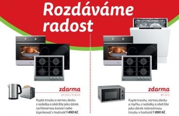 Mikrovlnka zdarma! Při nákupu spotřebičů MORA můžete získat rychlovarnou konvici, topinkovač, nebo mikrovlnku zdarma!
